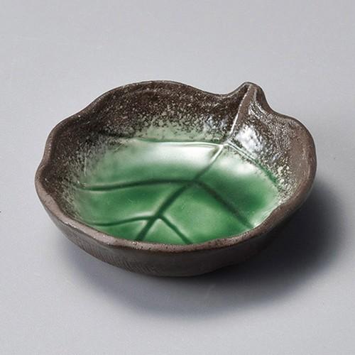 34424-460 伊賀ヒスイ葉形小皿|業務用食器カタログ陶里30号