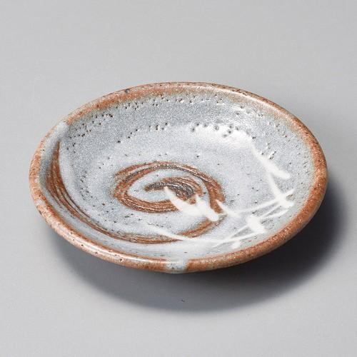 34921-180 銀志野芦(土物)丸3.5皿|業務用食器カタログ陶里30号