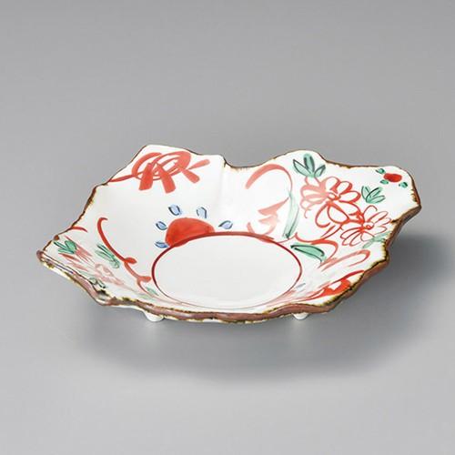 37305-450 赤絵花紋盛鉢|業務用食器カタログ陶里30号