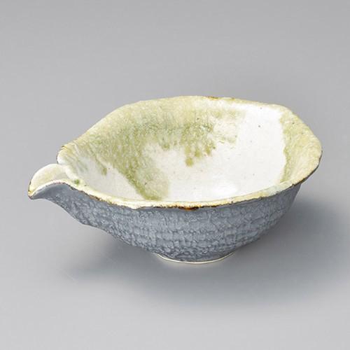 37313-080 グリーン流し片口鉢|業務用食器カタログ陶里30号