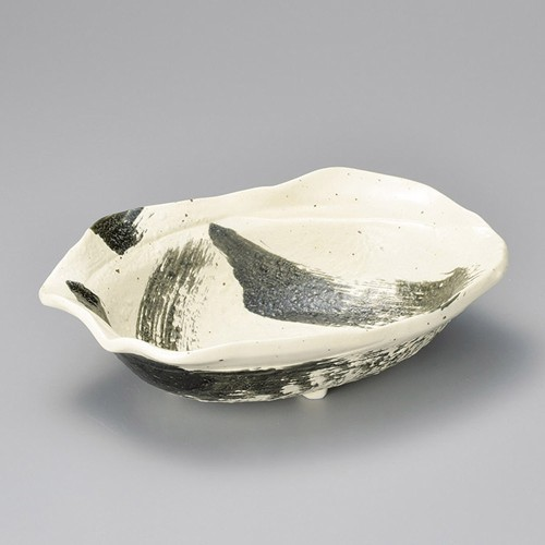 37315-160 黒刷毛大鉢|業務用食器カタログ陶里30号