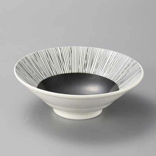 37924-250 クシ墨輪二重5.5深鉢|業務用食器カタログ陶里30号