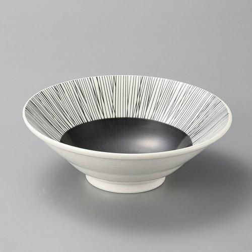 37925-250 クシ墨輪二重6.5深鉢|業務用食器カタログ陶里30号