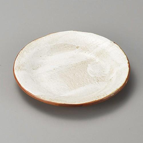 38420-310 白油滴刷毛4.5反り丸皿|業務用食器カタログ陶里30号