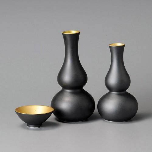 39204-330 黒釉口金大徳利|業務用食器カタログ陶里30号