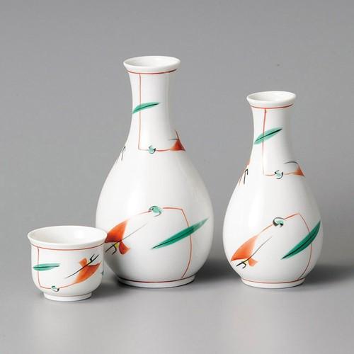 39216-320 赤絵つゆ草徳利(大)|業務用食器カタログ陶里30号
