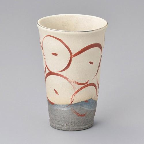 40503-430 粉引赤絵フリーカップ 業務用食器カタログ陶里30号