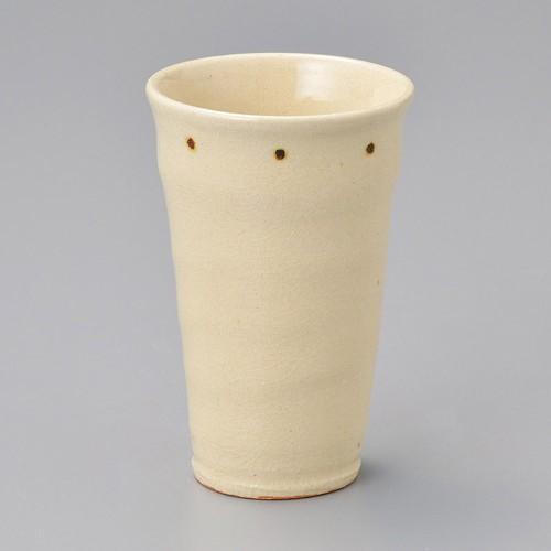 40504-430 粉引点紋フリーカップ 業務用食器カタログ陶里30号