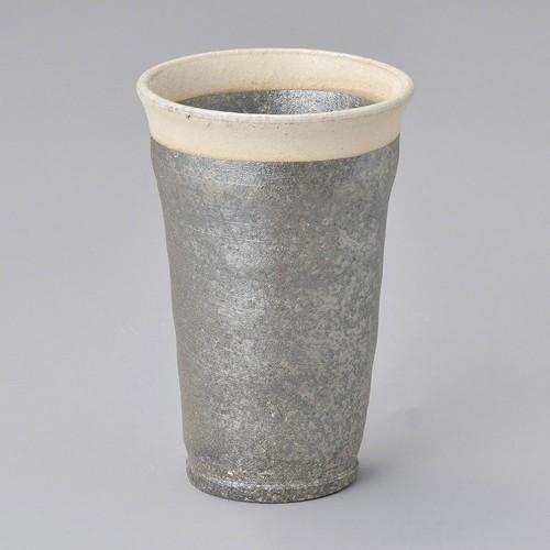 40505-430 黒窯変口白フリーカップ 業務用食器カタログ陶里30号