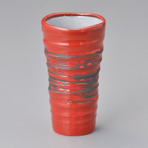 40516-020 赤釉ビールカップ 業務用食器カタログ陶里30号