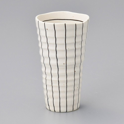 40519-280 白黒十草焼酎カップ(白) 業務用食器カタログ陶里30号