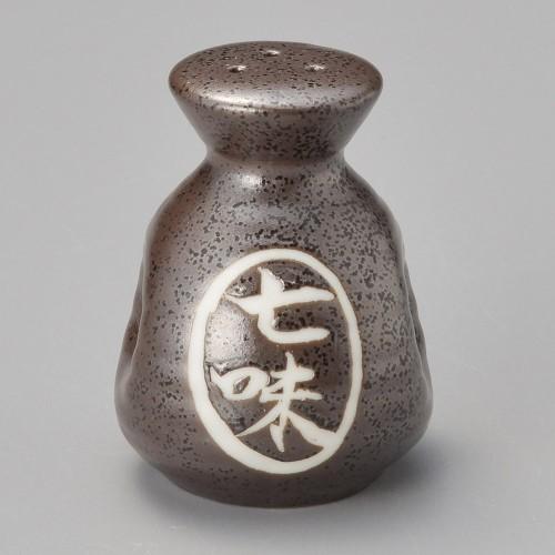 42003-250 黒水晶ペコ型七味入|業務用食器カタログ陶里30号