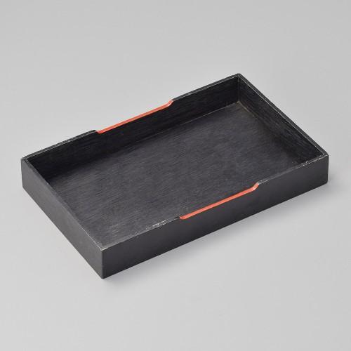 42014-250 黒マット六兵衛黒塗盆|業務用食器カタログ陶里30号