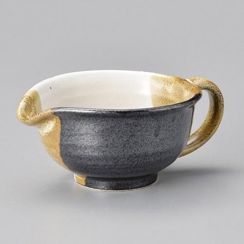42801-280 茶塗り分ドレッシング鉢(大) 業務用食器カタログ陶里30号