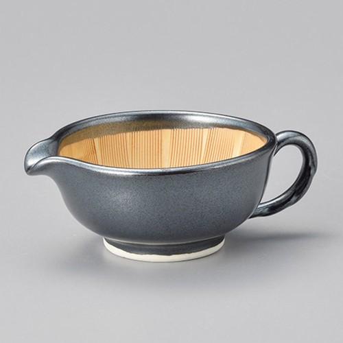 42827-320 黒釉ドレッシング鉢(小) 業務用食器カタログ陶里30号