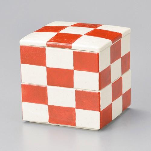 42904-460 赤市松二段重(小)|業務用食器カタログ陶里30号