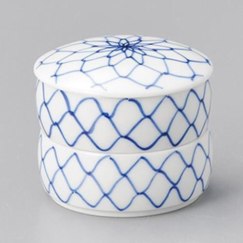 42911-400 アミ二段蓋物(小)|業務用食器カタログ陶里30号