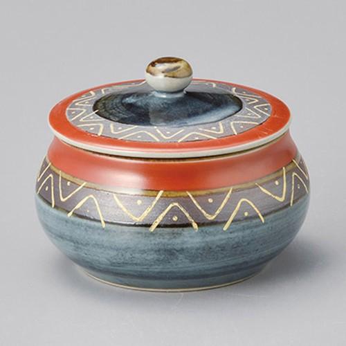 42912-330 マジョリカ赤蓋物|業務用食器カタログ陶里30号