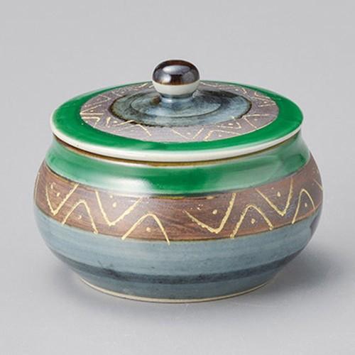 42913-330 マジョリカ緑蓋物|業務用食器カタログ陶里30号