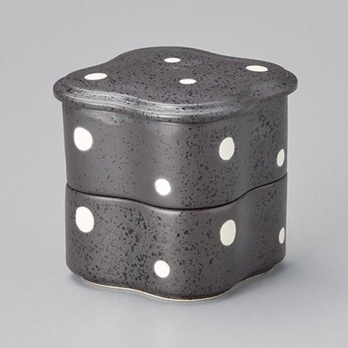 42918-160 黒点二段重|業務用食器カタログ陶里30号