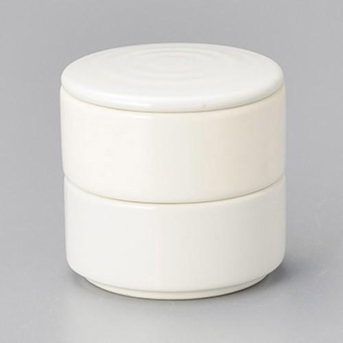 42919-460 ニューボン乳白 丸形二段重(小)|業務用食器カタログ陶里30号