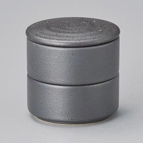 42920-460 黒ガラス 丸形二段重(小)|業務用食器カタログ陶里30号