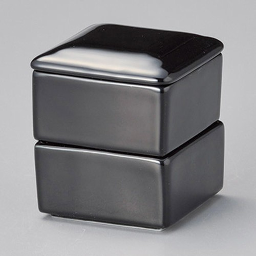 42922-400 黒角二段重|業務用食器カタログ陶里30号