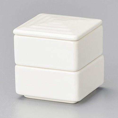 42924-460 ニューボン乳白 角形二段重(小)|業務用食器カタログ陶里30号
