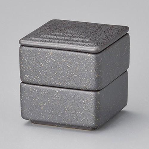42925-460 黒ガラス 角形二段重(小)|業務用食器カタログ陶里30号