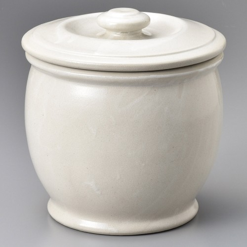 43002-100 オーガニックホワイト3升カメ|業務用食器カタログ陶里30号