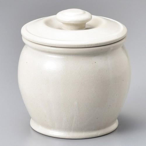 43005-100 オーガニックホワイト6号カメ|業務用食器カタログ陶里30号