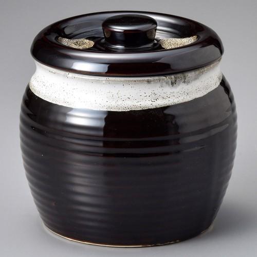 43007-100 天目白帯10号カメ|業務用食器カタログ陶里30号