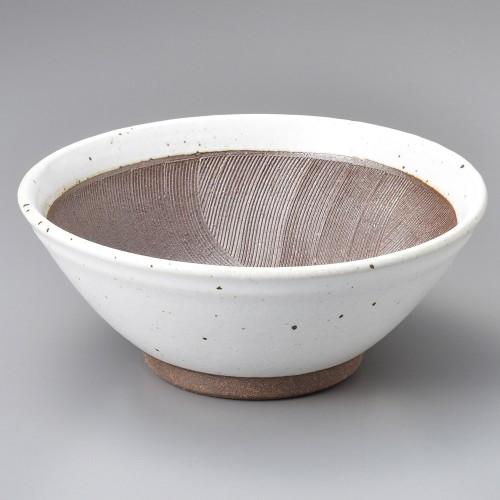 43401-120 波紋8寸すり鉢 白|業務用食器カタログ陶里30号