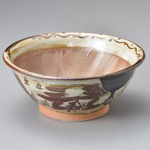 43404-010 オリベ山水9.0スリ鉢|業務用食器カタログ陶里30号