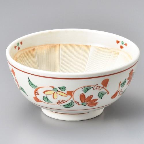 43424-260 赤絵菊駄知6.0スリ鉢|業務用食器カタログ陶里30号