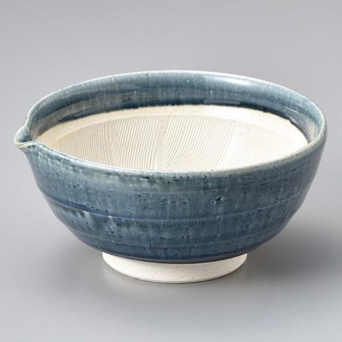 43428-080 紺釉6寸片口すり鉢|業務用食器カタログ陶里30号
