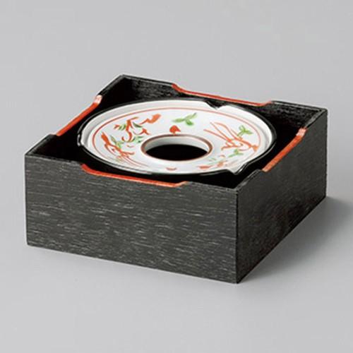 43803-410 赤絵万暦3.5灰皿|業務用食器カタログ陶里30号