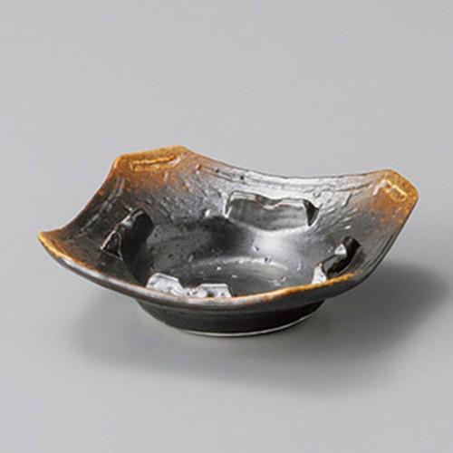 43813-410 焼締角灰皿小|業務用食器カタログ陶里30号