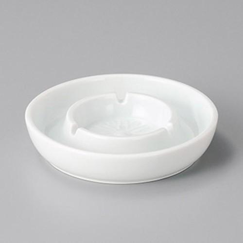 43828-310 二輪白灰皿5.0|業務用食器カタログ陶里30号