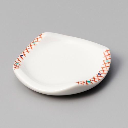 44002-460 赤格子受皿|業務用食器カタログ陶里30号