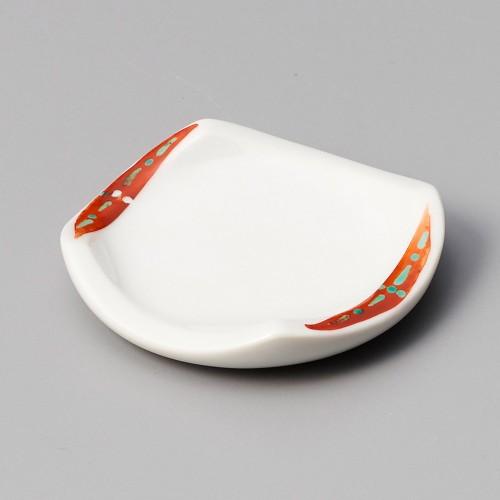 44006-460 赤刷毛緑点受皿|業務用食器カタログ陶里30号