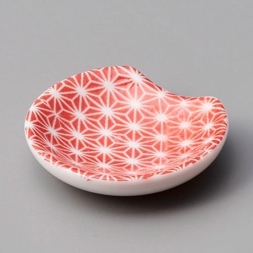 44022-400 麻の葉赤レンゲ受皿|業務用食器カタログ陶里30号