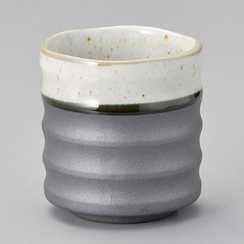 44301-330 粉引き外錆大寿司湯呑|業務用食器カタログ陶里30号