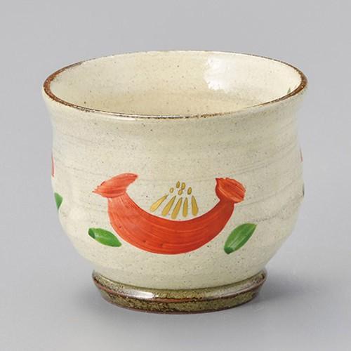 44701-050 粉引赤絵花(作家物)千茶&小鉢|業務用食器カタログ陶里30号