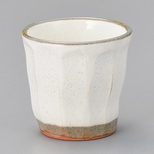 44719-180 粉引ソギ湯呑カップ|業務用食器カタログ陶里30号