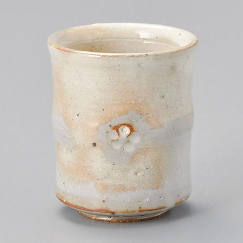 44722-180 手造り粉引華紋(土物)長湯呑|業務用食器カタログ陶里30号