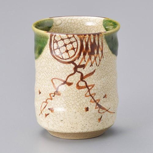 45302-450 織部湯呑(大)(手造り) 業務用食器カタログ陶里30号