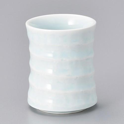 45303-410 青白磁六ベ長湯呑(小) 業務用食器カタログ陶里30号