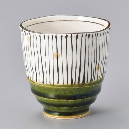 45307-450 織部十草湯呑(小) 業務用食器カタログ陶里30号