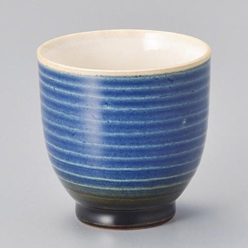45415-280 寿(ことぶき)湯呑(青)|業務用食器カタログ陶里30号